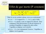 effet de gaz inerte p constant