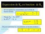expression de k p en fonction de k y