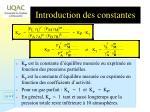 introduction des constantes1