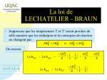 la loi de lechatelier braun1