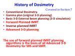 history of dosimetry