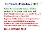 stereotactic procedures sbrt