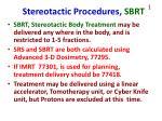 stereotactic procedures sbrt1