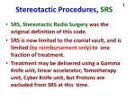 stereotactic procedures srs