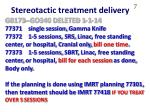 stereotactic treatment delivery