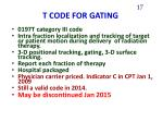t code for gating