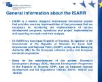 general information about the isarr