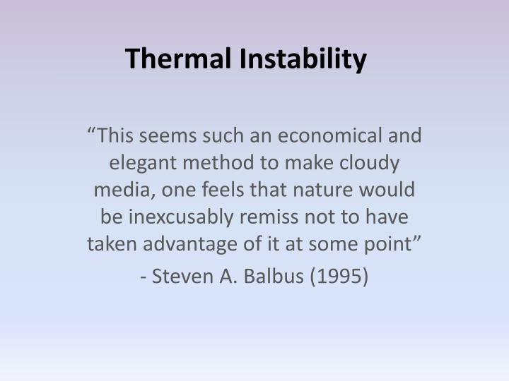 thermal instability n.