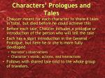 characters prologues and tales
