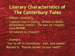 literary characteristics of the canterbury tales1