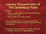 literary characteristics of the canterbury tales2