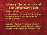 literary characteristics of the canterbury tales3