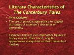 literary characteristics of the canterbury tales4