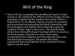 writ of the king