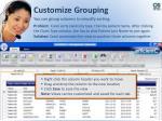 customize grouping