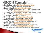 netco i3 counselors
