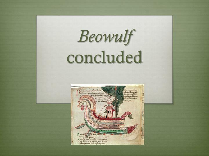 beowulf concluded n.