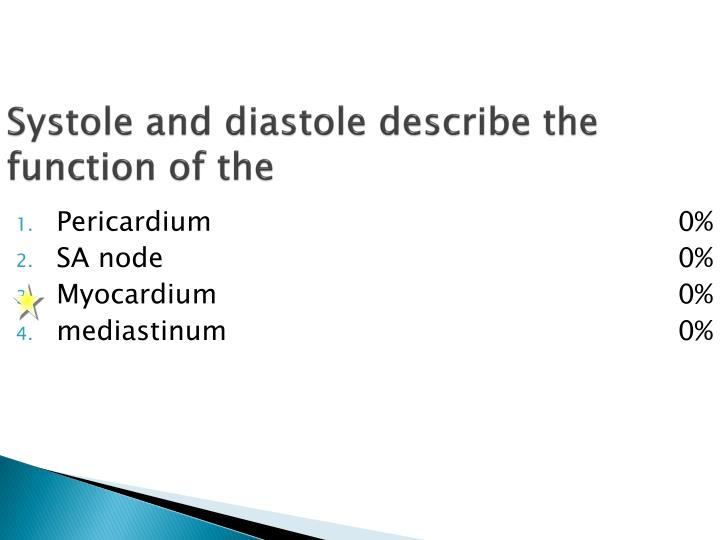 Systole and diastole describe the function of the