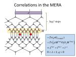 correlations in the mera1