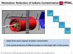 motivation reduction of isobaric contamination
