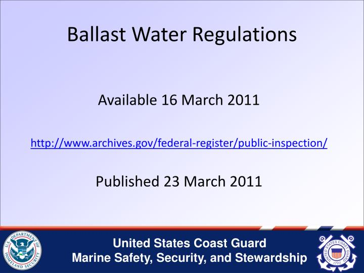 Ballast Water Regulations