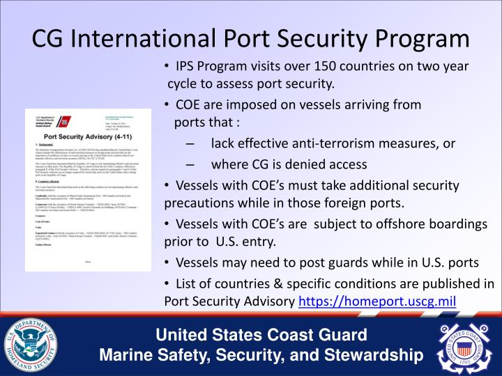 CG International Port Security Program