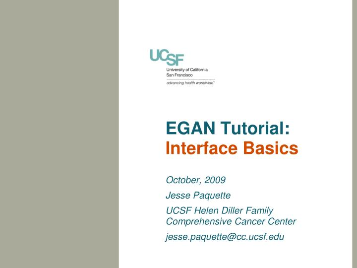 egan tutorial interface basics n.