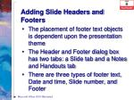 adding slide headers and footers1