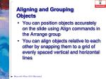 aligning and grouping objects