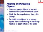 aligning and grouping objects1