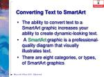 converting text to smartart