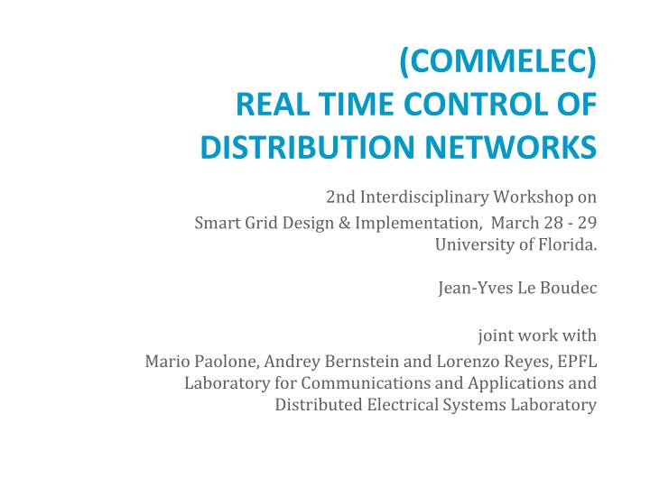 commelec real time control of distribution networks n.