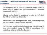 element 12 company verification review evaluation