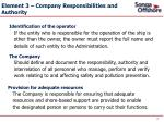 element 3 company responsibilities and authority