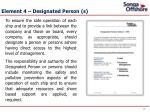 element 4 designated person s