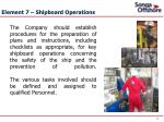 element 7 shipboard operations