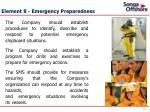 element 8 emergency preparedness
