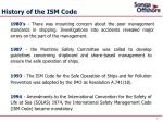 history of the ism code