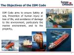 the objectives of the ism code