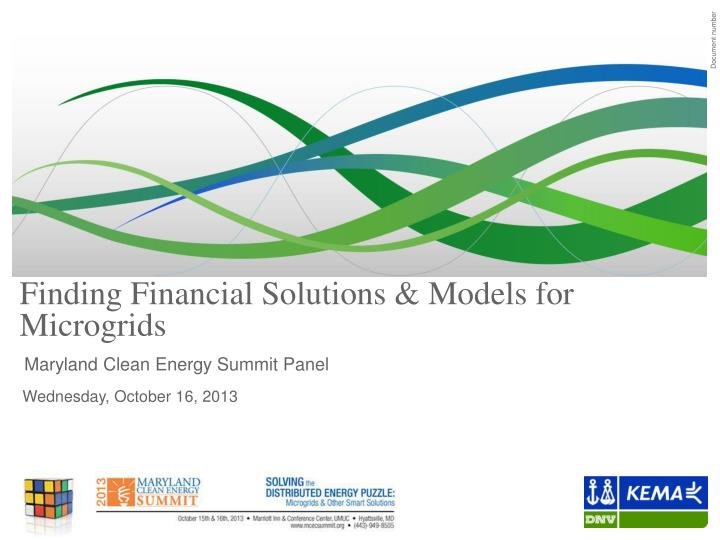 finding financial solutions models for microgrids n.