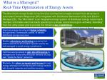 what is a microgrid real time optimization of energy assets