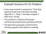 example solution for ici problem