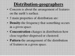 distribution geographers