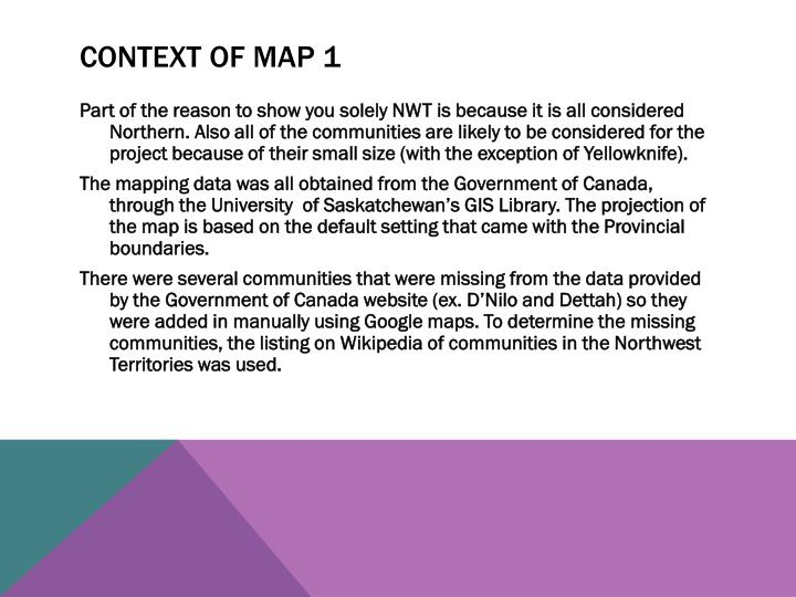 Context of Map 1