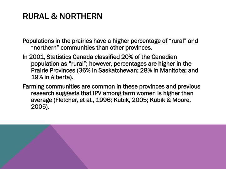 Rural & Northern