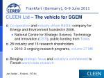 cleen ltd the vehicle for sgem