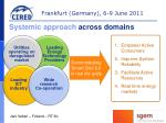 systemic approach across domains