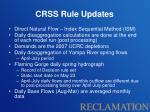 crss rule updates