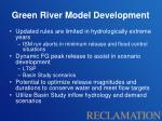 green river model development