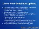 green river model rule updates